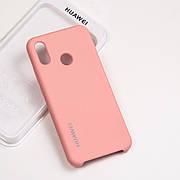Cиликоновый чехол на Huawei P20 lite Soft-touch - Pink