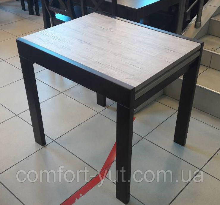 Стол обеденный Слайдер Венге/ ДУБ ШЕРВУД, 81,5(+81,5)*67см