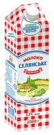 """Молоко """"Селянське"""" ультрапастеризованное, 3,2%, 1 л"""
