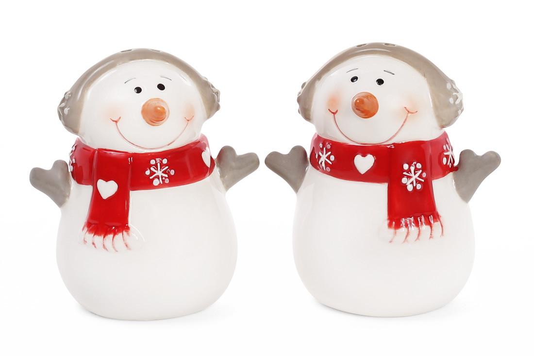 Набор для специй Снеговик: солонка и перечница 7.7см, 834-185