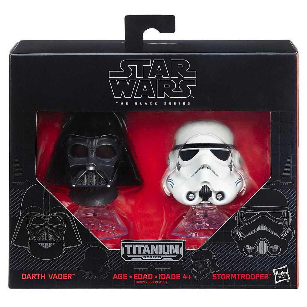 """Мини-шлемы Дарт Вейдер и штурмовик """"Звездные войны"""" - Star Wars, Black Series, Hasbro"""