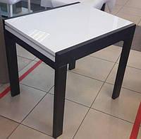 Стол обеденный СЛАЙДЕР венге со стеклом ультробелым 81,5(+81,5)х67см