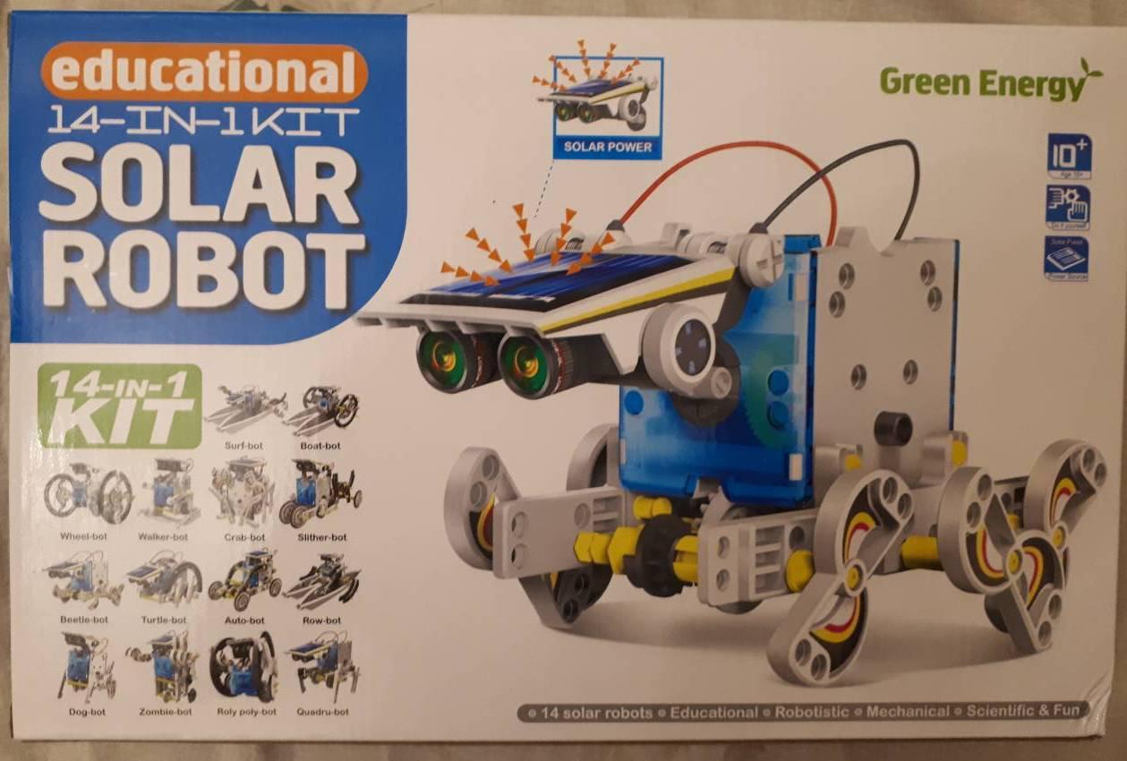 Робот конструктор на солнечных батареях 14 в 1