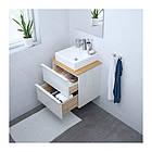 Шкаф с раковиной IKEA GODMORGON / TOLKEN / TÖRNVIKEN 62x49x72 см с ящиками бамбук глянец белый 992.051.25, фото 2