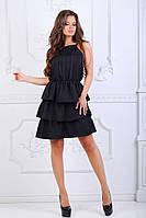 Женское коктейльное платье многослойное черное