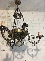 Антикварная бронзовая старинная люстра  светильник лампа антикварная мебель антиквариат Украина Киев Одесса