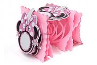 Бумажная гирлянда розовая Минни Маус, 3,3 метра