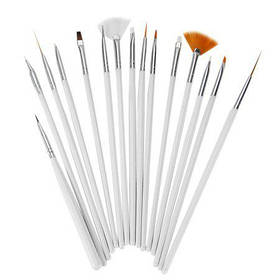 Набор кистей для ногтей STZ универсальные 15 шт