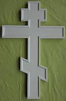 Крест настенный, аналойный из липы с левкасом .