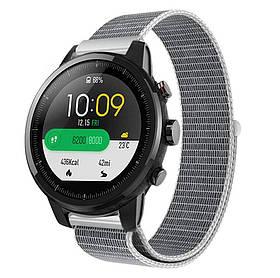Нейлоновий ремінець Primo для годин Xiaomi Huami Amazfit SportWatch 2 / Amazfit Stratos - White