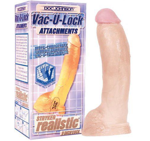 "Фаллоимитатор ""Реластик""  Vac-U-Lock Realistic Dildo"