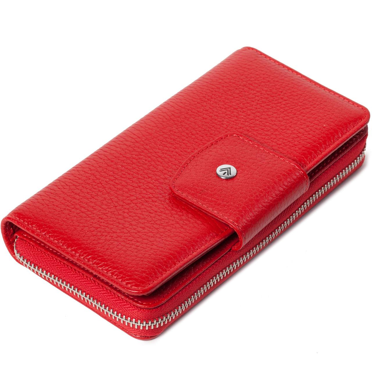 Женский кошелек кожаный красный Eminsa 2149-12-5