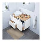 Шкаф с раковиной IKEA GODMORGON / TOLKEN / TÖRNVIKEN 102x49x74 см с ящиками белый глянец бамбук 491.920.93, фото 2