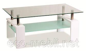 Журнальний стіл у вітальню Lisa Basic biały lakier Signal