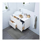 Шкаф с раковиной IKEA GODMORGON / TOLKEN / TÖRNVIKEN 102x49x74 см с ящиками белый 891.932.36, фото 2
