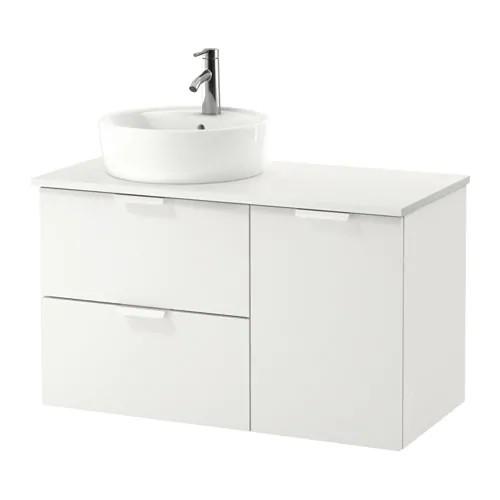 Шкаф с раковиной IKEA GODMORGON / TOLKEN / TÖRNVIKEN 102x49x74 см с ящиками белый 891.932.36