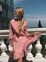 Женское платье на запах в горох, фото 1