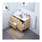 Шкаф с раковиной IKEA GODMORGON / TOLKEN / TÖRNVIKEN 102x49x74 см с ящиками дуб беленый белый 491.932.81, фото 2