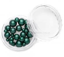 Жемчуг MIX темно-зеленый