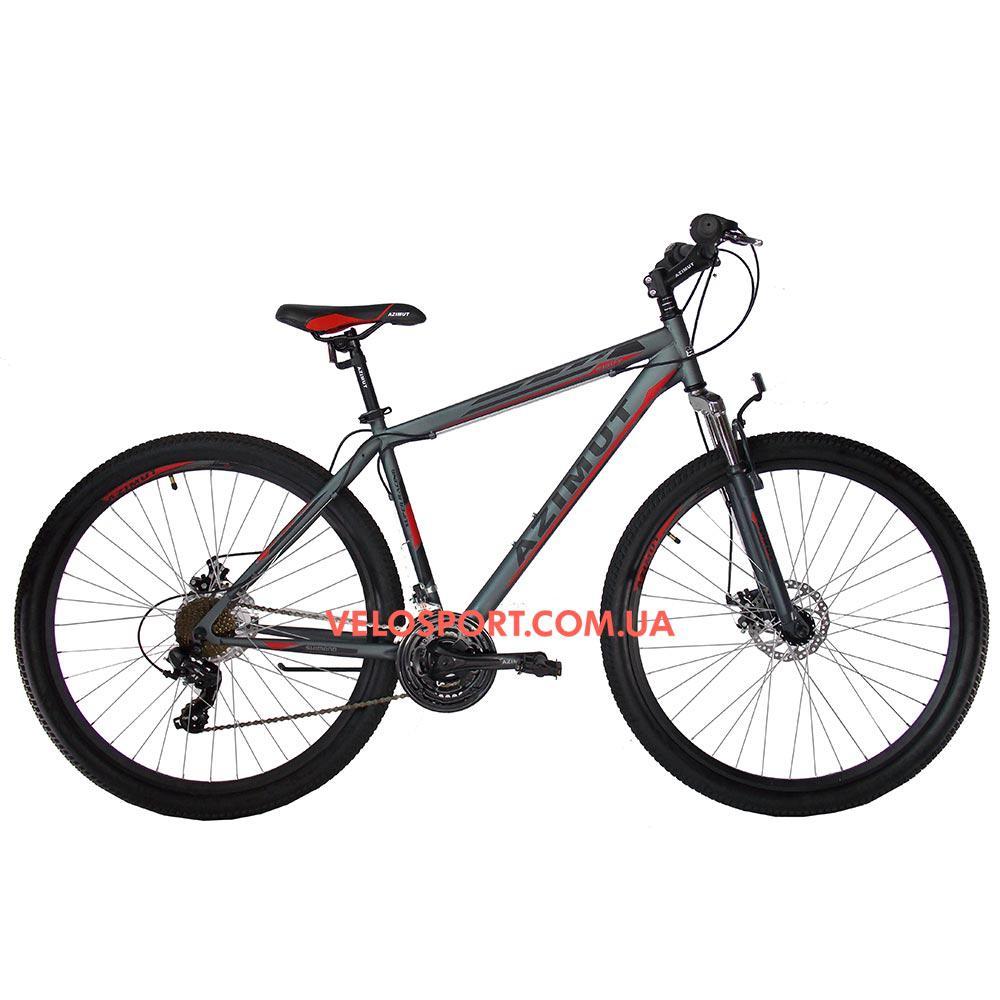 """Горный велосипед Azimut Swift 29 GD 19"""" серо-красный"""