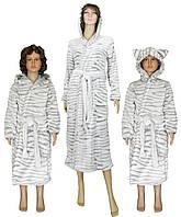 Комплект халатов махровых Мама + Дочка 03517-1 + 0476 Шиншилла, р.р.32-56