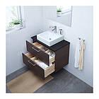 Шкаф с раковиной IKEA GODMORGON / TOLKEN / TÖRNVIKEN 82x49x72 см с ящиками коричневый антрацит 091.848.01, фото 2