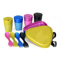 Набор посуды Light My Fire DiningKit 4 Person Peacock 41739210