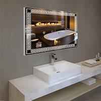 Зеркало с LED в алюминиевой рамкой , фото 1