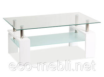 Журнальний стіл у вітальню Lisa Basic 2 biały lakier Signal