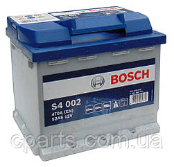 Аккумуляторная батарея (52 Ah-470 A) Renault Logan (Bosch 0092S40020)(высокое качество)
