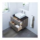 Шкаф с раковиной IKEA GODMORGON / TOLKEN / TÖRNVIKEN 82x49x72 см с ящиками глянец серый антрацит 691.878.87, фото 2