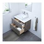 Шкаф с раковиной IKEA GODMORGON / TOLKEN / TÖRNVIKEN 82x49x72 см с ящиками глянец серый белый 891.878.86, фото 2