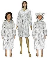 Комплект халатов махровых Мама + Дочка 03517-2 + 0476 Шиншилла, р.р.32-56