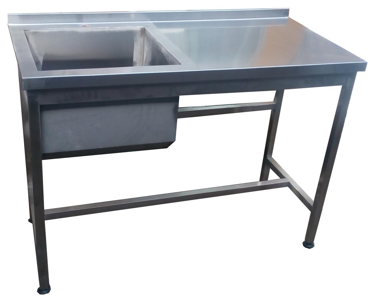 Стол-мойка с бортом 1100х600х850