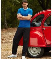 Спортивные брюки трикотажные без резинки снизу