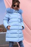 Зимняя детская куртка Деника, мех песец, фото 1
