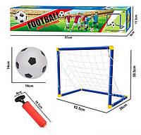 Футбольный набор. Игра ФУТБОЛ для детей от 3 лет. Футбольные ворота 62х38х50 см + мяч + насос.