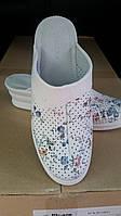 Сабо женские кожаные белые медицинские поварские оптом, фото 1