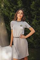 Платье женское короткое из вискозы с аппликацией (К23459), фото 1