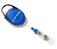 Держатель для бейджа Boeing Carabiner Retractable Badge Holder 580080090030 (Blue)