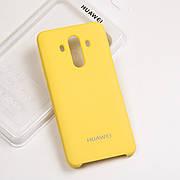 Cиликоновый чехол на Huawei Mate 10 pro Soft-touch - Yellow