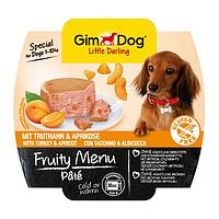 GimDog Little Darling FRUITY MENU 100г - Паштет с индейкой и абрикосом - консервы для собак