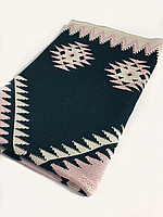 Ковёр Ohaina 140х110 цвет пудра-изумруд-песок