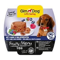 GimDog Little Darling FRUITY MENU 100г - Паштет с ягненком и лесными ягодами - консервы для собак