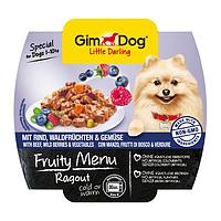 GimDog Little Darling FRUITY MENU 100г - Рагу с говядиной, лесными ягодами и овощами - консервы для собак