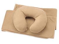 Набор для путешествий с комфортом: плед и подушка под голову, в чехле (835328_OS)