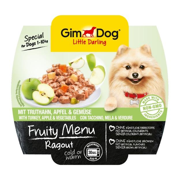 GimDog Little Darling FRUITY MENU 100г - Рагу с индейкой, яблоками и овощами - консервы для собак