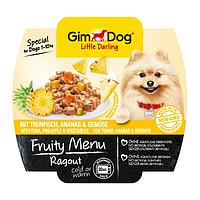 GimDog Little Darling FRUITY MENU 100г - Рагу с тунцом, ананасом и овощами - консервы для собак