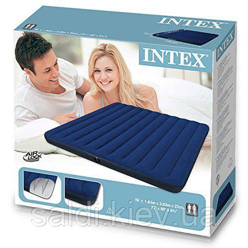 Надувной матраc Intex 203x152x22 см