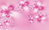 Купить 3D фотообои на стену : Розовые узоры CN412